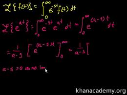 Laplace transform : Laplace Transform 2 Volume Differential Equations series by Sal Khan