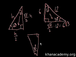Special right triangles : 30-60-90 Trian... Volume Geometry series by Sal Khan