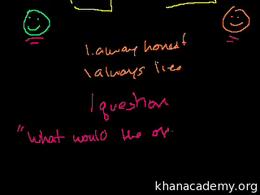 Brain Teasers : Liar Truth-teller Brain ... Volume Math series by Sal Khan