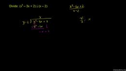 Dividing polynomials : Dividing polynomi... Volume Algebra series by Sal Khan