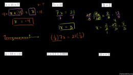 Equations for beginners : One Step Equat... Volume Algebra series by Sal Khan