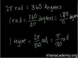 Radians : Radians and degrees Volume Basic trigonometric ratios series by Sal Khan