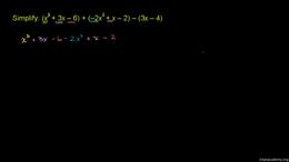 Polynomial basics : Adding and Subtracti... Volume Algebra series by Sal Khan