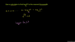 Natural logarithms : Natural Logarithm w... Volume Algebra series by Sal Khan