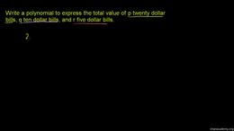 Polynomial basics : Polynomials 2 Volume Algebra series by Sal Khan