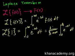 Laplace transform : Laplace Transform 1 Volume Differential Equations series by Sal Khan