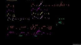 The imaginary unit i : Calculating i Rai... Volume Trigonometry and precalculus series by Sal Khan