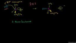 SN1 vs SN2 : Sn2 Stereochemistry Volume Organic Chemistry series by Sal Khan