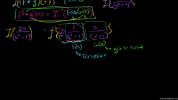 The convolution integral : The Convoluti... Volume Differential Equations series by Sal Khan