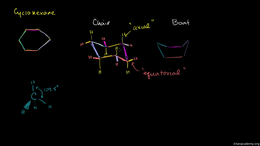 Conformations : Chair and Boat Shapes fo... Volume Organic Chemistry series by Sal Khan