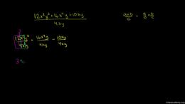 Dividing polynomials : Dividing multivar... Volume Algebra series by Sal Khan