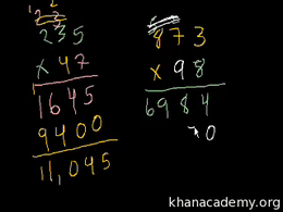 Multi-digit multiplication : Multiplicat... Volume Arithmetic and Pre-Algebra series by Sal Khan