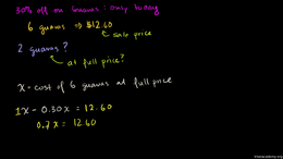Percent word problems : Another Percent ... Volume Algebra series by Sal Khan