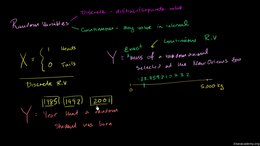Random variables and probability distrib... Volume Probability and statistics series by Sal Khan