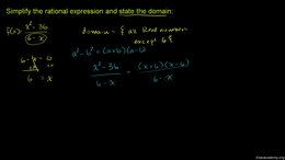 Simplifying rational expressions : Simpl... Volume Algebra series by Sal Khan