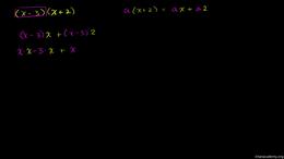 Multiplying monomials, binomials and pol... Volume Algebra series by Sal Khan