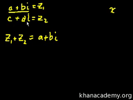 Complex numbers : Complex Numbers (part ... Volume Trigonometry and precalculus series by Sal Khan