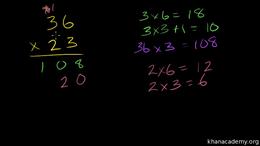Multi-digit multiplication : 2-digit tim... Volume Arithmetic and Pre-Algebra series by Sal Khan
