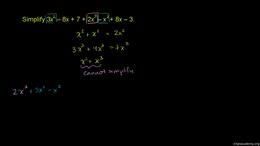 Polynomial basics : Simply a polynomial Volume Algebra series by Sal Khan