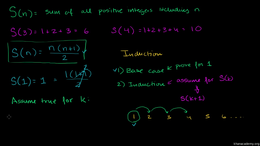 Induction : Proof by Induction Volume Trigonometry and precalculus series by Sal Khan