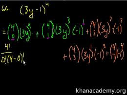 Algebra II : Algebra II: binomial Expans... Volume Test Prep series by Sal Khan