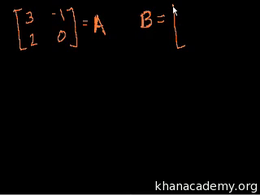 Basic matrix operations : Introduction t... Volume Algebra series by Sal Khan