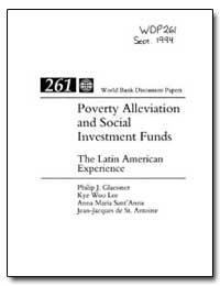 Poverty Alleviation and Social Investmen... by Glaessner, Philip J.