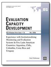 Evaluation Capacity Development : Experi... by Zaltsman, Ariel