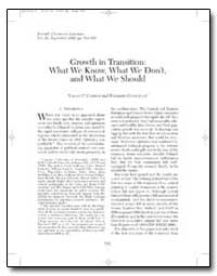 Growth in Transition : What We Know, Wha... by Campos, Nauro F.