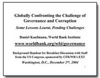 Globally Confronting the Challenge of Go... by Kaufmann, Daniel