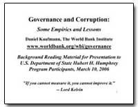 Governance and Corruption : Some Empiric... by Kaufmann, Daniel