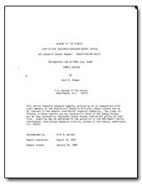 Methodology for Optimal Dual Frame Sampl... by Biemer, Paul P.