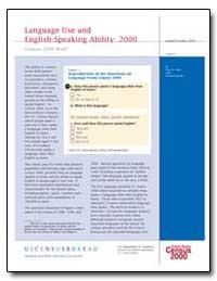 Language Use by U. S. Census Bureau Department
