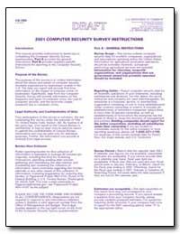 2002 Computer Security Survey Instructio... by U. S. Census Bureau Department