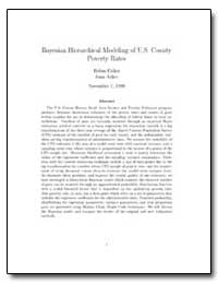 Bayesian Hierarchical Modeling of U. S. ... by Fisher, Robin