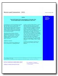 Motors and Generators: 2003 by U. S. Census Bureau Department
