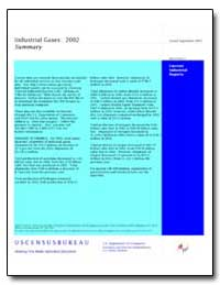 Industrial Gases : 2002 by U. S. Census Bureau Department