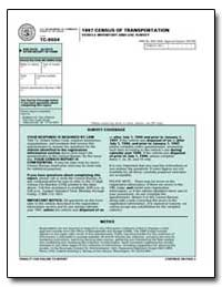 1997 Census of Transportation Vehicle In... by U. S. Census Bureau Department