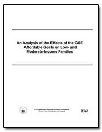 An Analysis of the Effects of the Gse Af... by U. S. Census Bureau Department