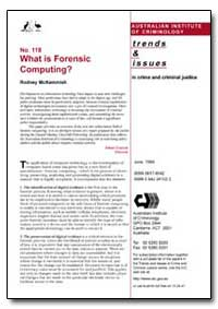 What Is Forensic Computing by Mckemmish, Rodney