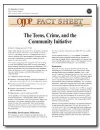 The Teens, Crime, And the Community Init... by Calhoun, John A.