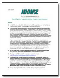 Faqs for Leadership Proposals by Government Printing Office