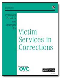 Victim Services in Corrections by Reno, Janet