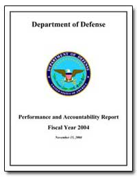 Department of Defense : Performance and ... by Wolfowitz, Paul D.