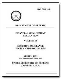 Financial Management Regulation Volume 1... by Department of Defense