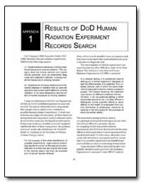 Results of Dod Human Radiation Experimen... by Department of Defense