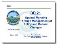 Optimal Manning through Management of Po... by Department of Defense