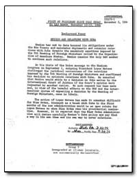 Mexico and Relations with Cuba by Department of National Security
