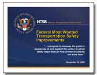 Federal Most Wanted Transportation Safet... by National Transportation Safety Board