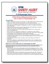 Ntsb Safety Alert National Transportatio... by National Transportation Safety Board